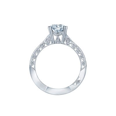Tacori 2644RD7512-W White Gold Round Engagement Ring side