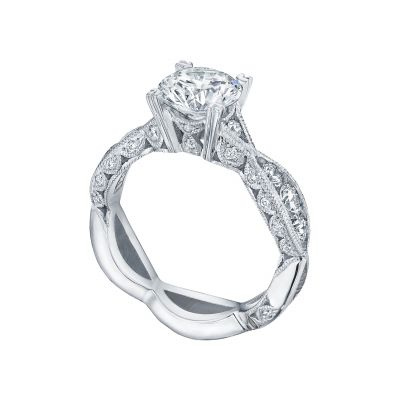 Tacori 2644RD7512-W White Gold Round Twist Shank Engagement Ring angle