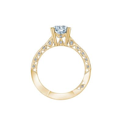 Tacori 2644RD7512-Y Yellow Gold Round Engagement Ring side