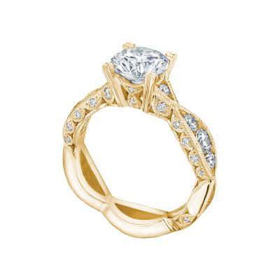 Tacori 2644RD7512-Y Yellow Gold Round Vintage Style Engagement Ring angle