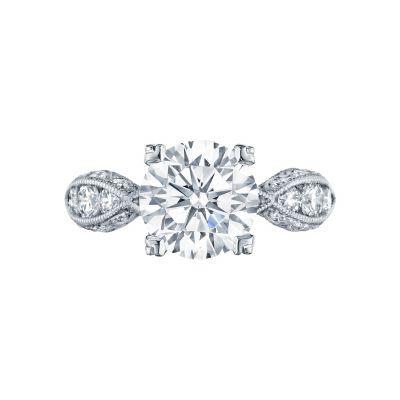 Tacori 2644RD934 Classic Crescent Platinum Round Engagement Ring