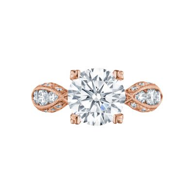 Tacori 2644RD934-PK Classic Crescent Rose Gold Round Engagement Ring
