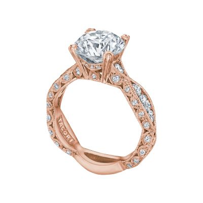 Tacori 2644RD934-PK Rose Gold Round Twist Shank Engagement Ring angle