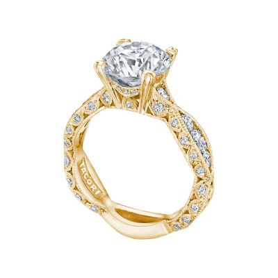 Tacori 2644RD934-Y Yellow Gold Round Eternity Engagement Ring angle