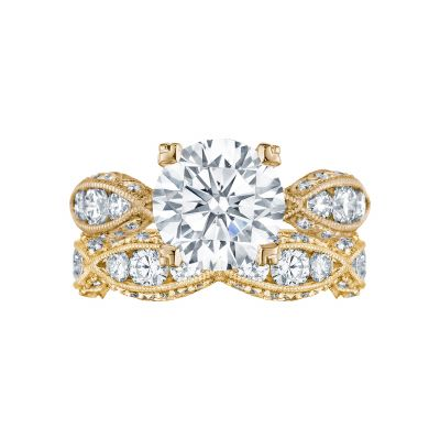 Tacori 2644RD934-Y Yellow Gold Round Eternity Engagement Ring set