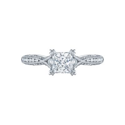 Tacori 2645PR Classic Crescent White Gold Princess Cut Engagement Ring