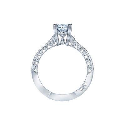 Tacori 2645PR White Gold Princess Cut Engagement Ring side