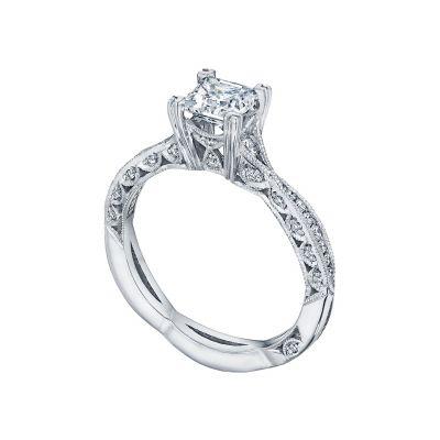 Tacori 2645PR White Gold Princess Cut Twist Shank Engagement Ring angle
