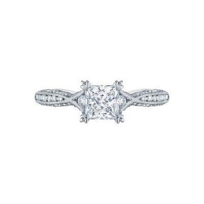 Tacori 2645PR512 Classic Crescent Platinum Princess Cut Engagement Ring