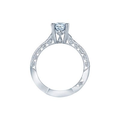 Tacori 2645PR512 Platinum Princess Cut Engagement Ring side