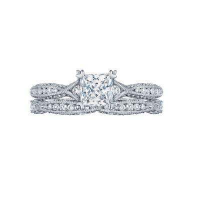 Tacori 2645PR512 Platinum Princess Cut Twist Band Engagement Ring set