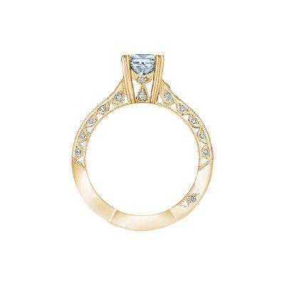 Tacori 2645PR512-Y Yellow Gold Princess Cut Engagement Ring side