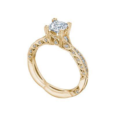Tacori 2645PR512-Y Yellow Gold Princess Cut Infinity Band Engagement Ring angle