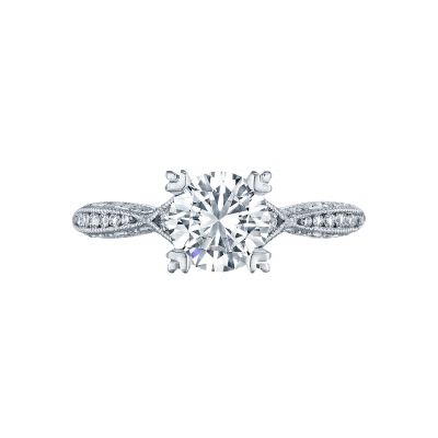 Tacori 2645RD Classic Crescent White Gold Round Engagement Ring