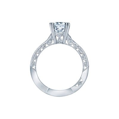 Tacori 2645RD White Gold Round Engagement Ring side