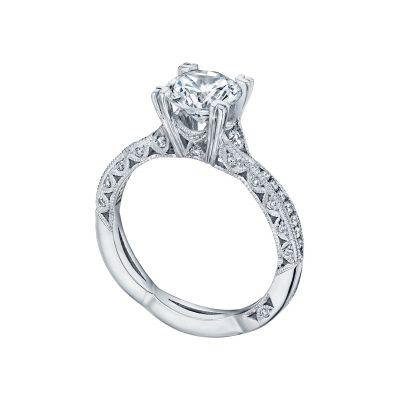 Tacori 2645RD White Gold Round Twist Band Engagement Ring angle