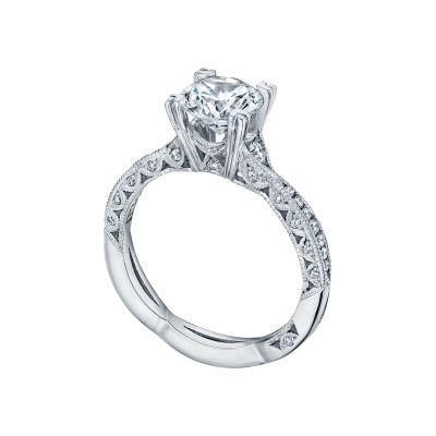 Tacori 2645RD612 Platinum Round Unique Twist Engagement Ring angle
