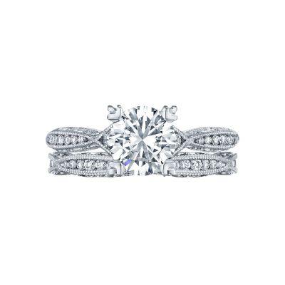 Tacori 2645RD612 Platinum Round Unique Twist Engagement Ring set