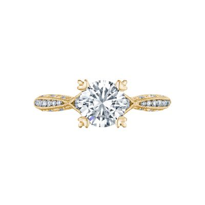 Tacori 2645RD612-Y Classic Crescent Yellow Gold Round Engagement Ring