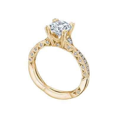 Tacori 2645RD612-Y Yellow Gold Round Infinity Engagement Ring angle