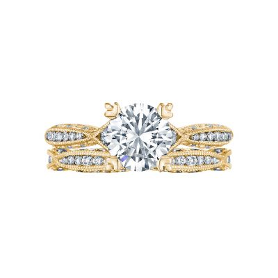 Tacori 2645RD612-Y Yellow Gold Round Infinity Engagement Ring set