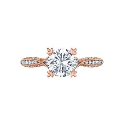 Tacori 2645RD6512PK Classic Crescent Rose Gold Round Engagement Ring