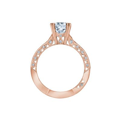 Tacori 2645RD6512PK Rose Gold Round Engagement Ring side