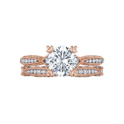 Tacori 2645RD6512PK Rose Gold Round Twist Shank Engagement Ring set