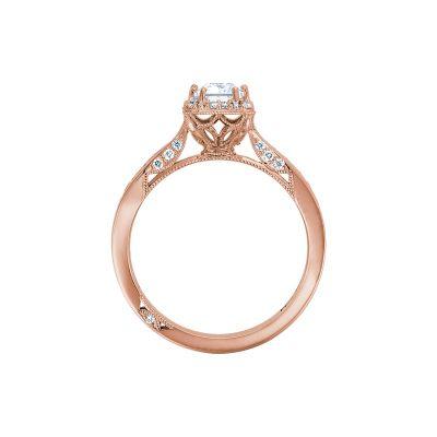 Tacori 2646-25EC7X5-PK Rose Gold Emerald Cut Engagement Ring side