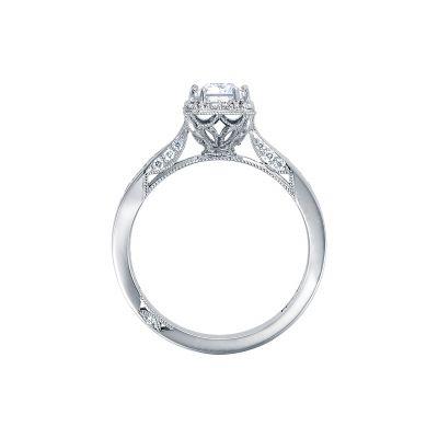 Tacori 2646-25EC7X5 Platinum Emerald Cut Engagement Ring side