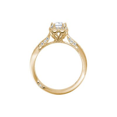 Tacori 2646-25EC7X5-Y Yellow Gold Emerald Cut Engagement Ring side
