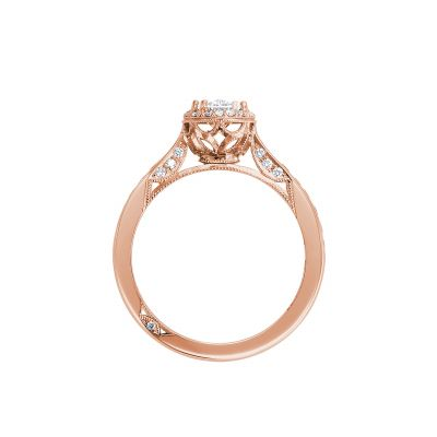 Tacori 2646-25OV75X55P Rose Gold Oval Engagement Ring side
