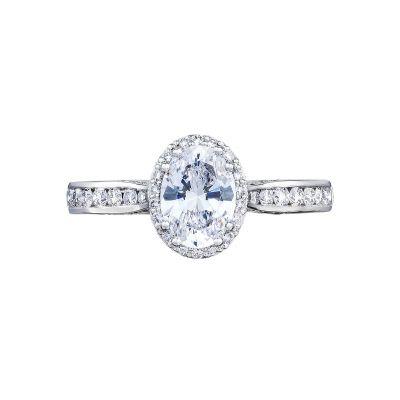 Tacori 2646-25OV75X55W Dantela White Gold Oval Engagement Ring