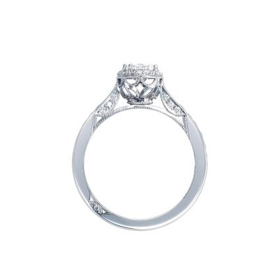 Tacori 2646-25OV75X55W White Gold Oval Engagement Ring side