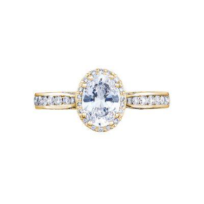 Tacori 2646-25OV75X55Y Dantela Yellow Gold Oval Engagement Ring