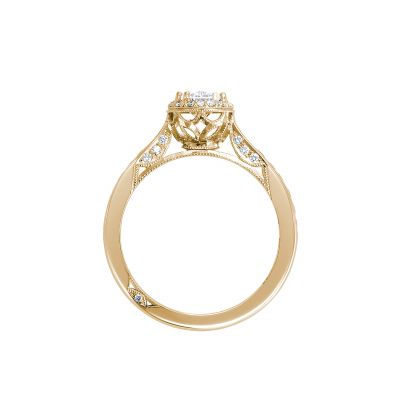 Tacori 2646-25OV75X55Y Yellow Gold Oval Engagement Ring side