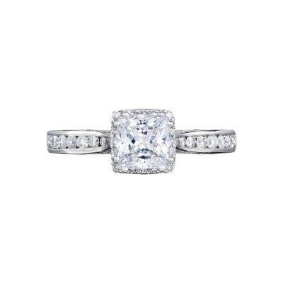 Tacori 2646-25PR Dantela White Gold Princess Cut Engagement Ring