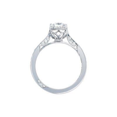 Tacori 2646-25PR White Gold Princess Cut Engagement Ring side