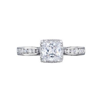 Tacori 2646-25PR5 Dantela Platinum Princess Cut Engagement Ring