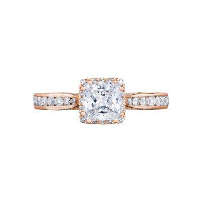 Tacori 2646-25PR5-PK Dantela Rose Gold Princess Cut Engagement Ring
