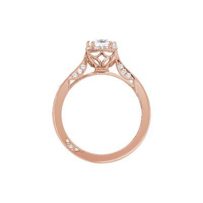 Tacori 2646-25PR5-PK Rose Gold Princess Cut Engagement Ring side