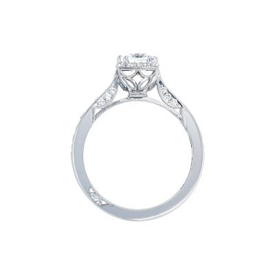 Tacori 2646-25PR5 Platinum Princess Cut Engagement Ring side