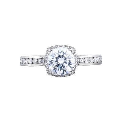 Tacori 2646-25RDC65 Dantela Platinum Round Engagement Ring
