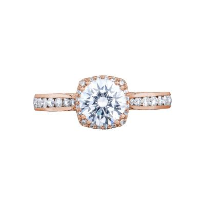Tacori 2646-25RDC65-PK Dantela Rose Gold Round Engagement Ring