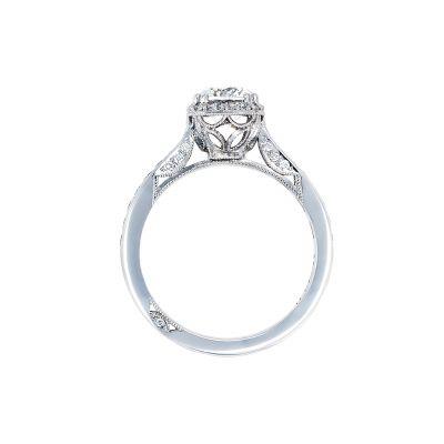 Tacori 2646-25RDC65 Platinum Round Engagement Ring side