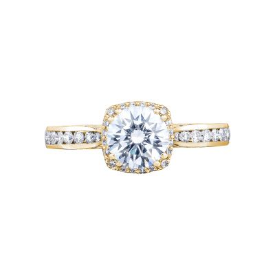 Tacori 2646-25RDC65Y Dantela Yellow Gold Round Engagement Ring