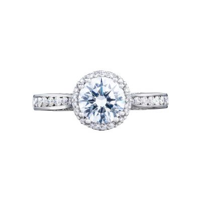 Tacori 2646-25RDR Dantela White Gold Round Engagement Ring