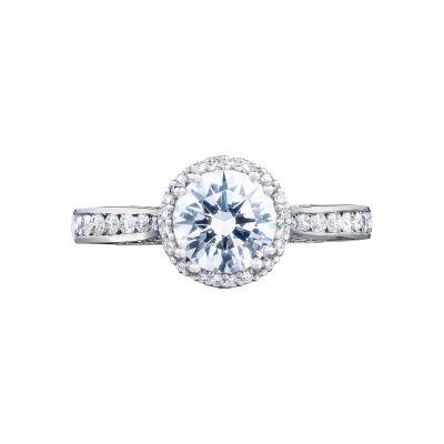 Tacori 2646-25RDR65 Dantela Platinum Round Engagement Ring