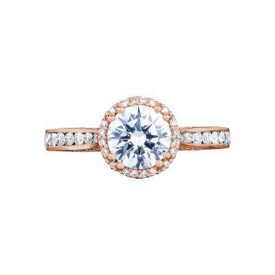 Tacori 2646-25RDR65-PK Dantela Rose Gold Round Engagement Ring