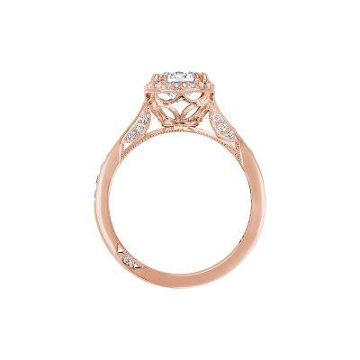 Tacori 2646-25RDR65-PK Rose Gold Round Engagement Ring side